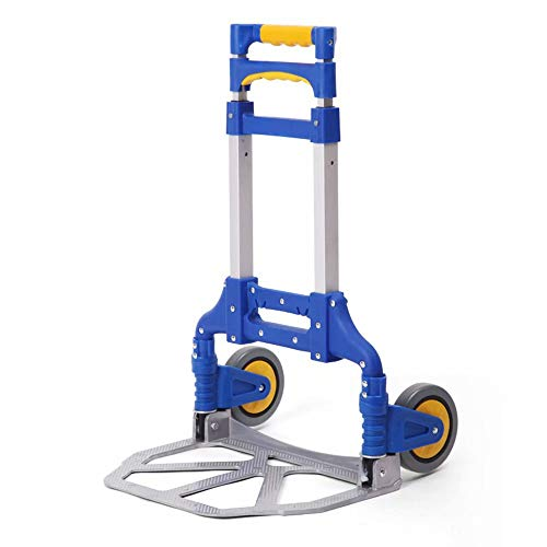 (Hand Truck/Truck - Multi-Functional Folding Aluminium Alloy Sack Truck & Dolly for Convenient Lifting & Moving at Home, Office & Outdoors)