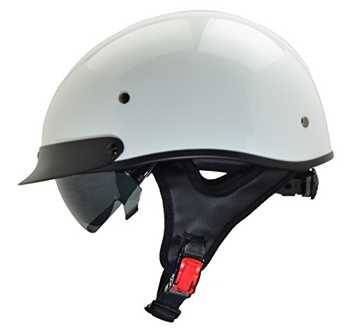 Vega Helmets Unisex-Adult Half Helmet (Pearl White, X-Large)