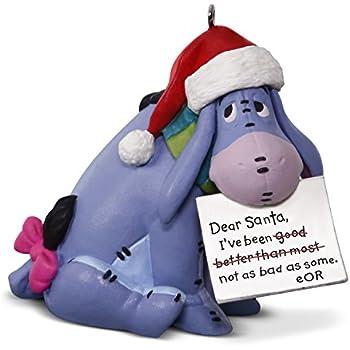 amazon com disney winnie the pooh eeyore a letter to santa ornament