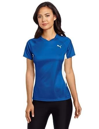 Puma Women's TB Running Short Sleeve Tee, New Team Royal, XX-Small