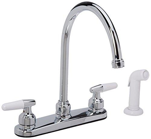 LDR 011 3950 Double Handle High Arc Kitchen Faucet, Chrome by LDR IND