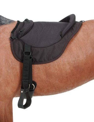 Western Bareback Pad (Tough 1 Premium Bareback Pad, Black)