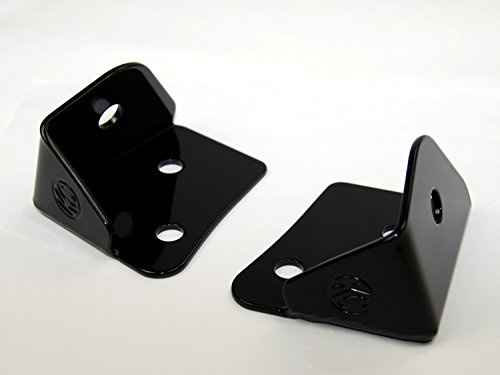 "KC HiLiTES 7316 2007-2014 Jeep Wrangler JK Windshield Hinge Light Mount Brackets - Set of 2"" (Hinge Windshield Jeep Wrangler)"