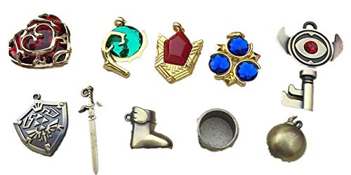 The Legend of Zelda Logo Necklace Keychain Pendant 10pcs Set Collection