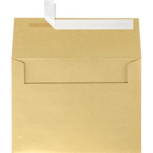 A4 Invitation Envelopes (4 1/4 x 6 1/4) - Blonde Light Gold Metallic (50 Qty.)