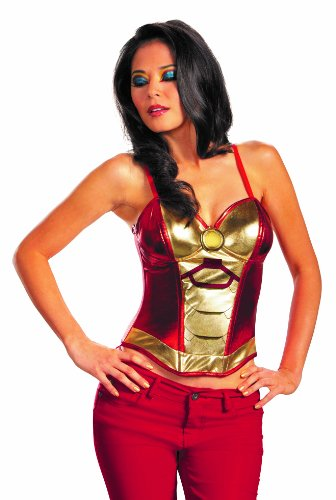 Disguise Marvel Iron Man Mark 42 Fiercely Femme Sassy Womens Adult Bustier Costume, Gold/Red, Medium/8-10 ()