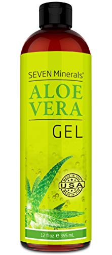 Aloe Vera Gel - 99% Organic, Big 12 oz - NO XANTHAN, so it Absorbs Rapidly with No Sticky Residue - made from REAL JUICE, NOT POWDER …