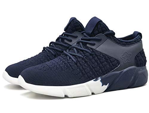 Sneakers De Légères Homme Chaussures Course Respirantes Bleu Sport OYqXXHdxw