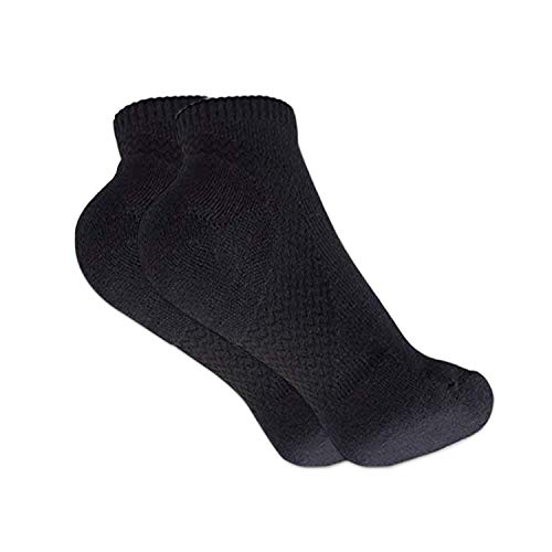 Gripper Arch Support Compression Yoga/Hospital Socks with Grips For Men & Women by Stomper Joe (Black with no sole grips) from StomperJoe