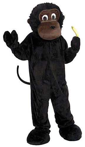UHC Gorilla Plush Mascot Monkey Jumpsuit Funny Theme Party Halloween Costume, OS (Up to 42) - Gorilla Suit Cheap