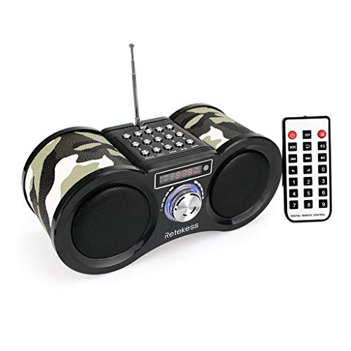 ZWS Radio FM Radio Stereo Digital Radio Receiver Speaker USB Disk TF Card MP3 Music Player Camouflage Remote Control Current Affairs Information (Color : Camouflage Color)