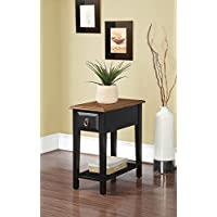 ACME Furniture 80512 Jeana Side Table, Black & Oak