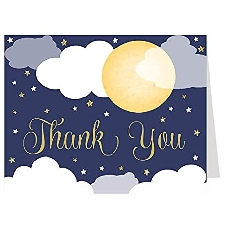 6751e5f6c368 Amazon.com : Starry Night Thank You Cards, Baby Shower, Gender ...