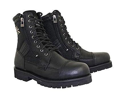 b53792ceaa2 Xelement 1506 'Impact' Men's Black Motorcycle Biker Boots - 10