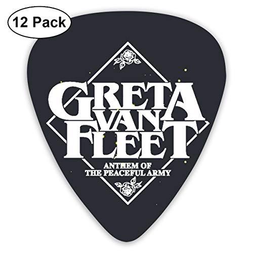 Greta Leather - Greta Van Fleet Standard ShapeGuitar Picks Guitar 12 Picks with Leather Picks Holder for Electric Guitar, Acoustic Guitar, Mandolin, and Bass