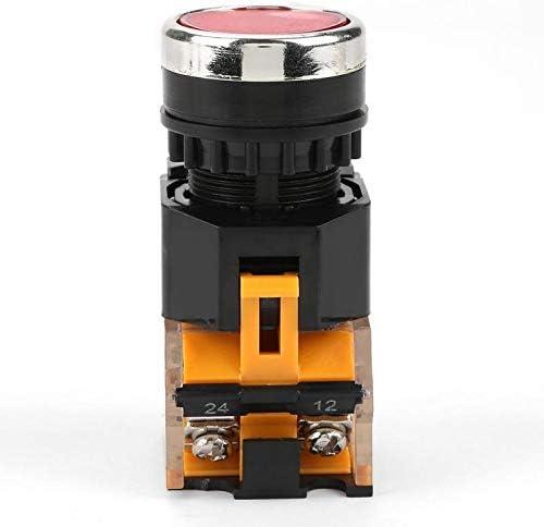 1pc 220V 380V Autobloccante Pulsante Interruttore Bottone Piatto Interruttore Rosso Push Button Switch LA38-11BNZS Interruttore affidabile F-MINGNIAN-TOOL