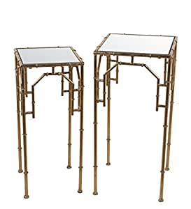 Privilege Metal Plant Stands 71193 Privilege 71193 2 Piece Plant Stands - Gold Leaf 0 X 12.2 X 12.2 Inches Gold