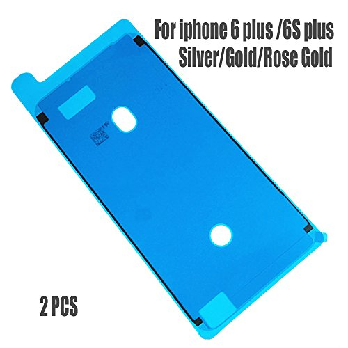Johncase 2PCS New OEM 3M Waterproof Screen Sealing Adhesive, LCD Display Front Frame Pre-Cut Tape Seal Stickers Glue Replacement Part for iPhone 6 plus/6s Plus 5.5