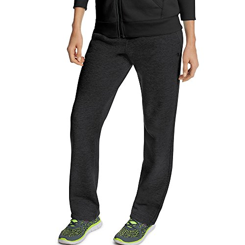 Sweatpants Blend Cotton (Champion Women's Fleece Open Bottom Pant, Black, Small)