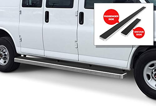- APS iBoard Running Boards 6 inches Silver Custom Fit 2003-2019 Chevy Express GMC Savana 1500 2500 3500 Full Size Van (Nerf Bars Side Steps Side Bars)