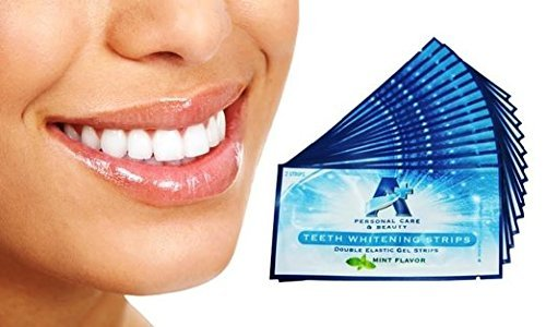 Sparkling White Professional Strength 6%HP Teeth Whitening Strips - Elastic Strips plus Advanced Whitening Formula = Great Results! 28 Strips (14 Upper and 14 Lower) Free Teeth Shade Guide Included. by Sparkling White Smiles (Image #7)