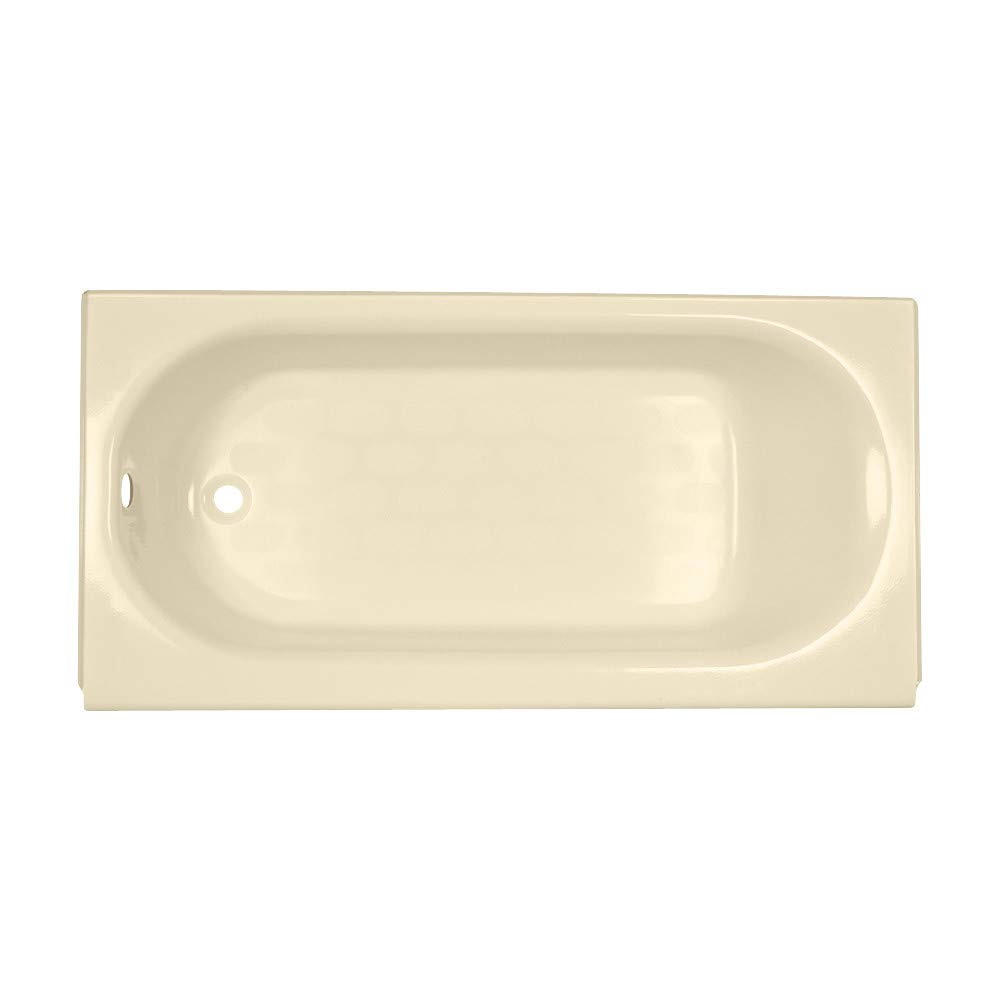 American Standard 2394202.021 Princeton Luxury Ledge Americast Apron-Front Bathtub with Left Hand Drain, 60 in x 34 in, Bone