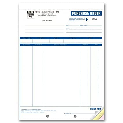 Professional Purchase Order Forms Office Products
