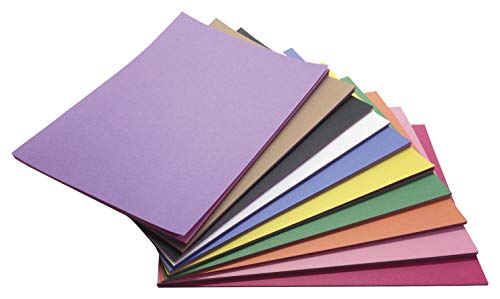Construction Paper 9x12 Light - Childcraft Construction Paper, 9 x 12 Inches, Assorted Colors, 500 Sheets - 1465886