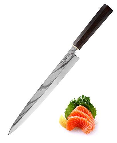 TUO Messer Yanagiba Für Sushi japanischen Profi-VG10 34 Schichten Damaskus-Stahl-G10 Mango & High Carbon Steel, Blatt-26.67cm