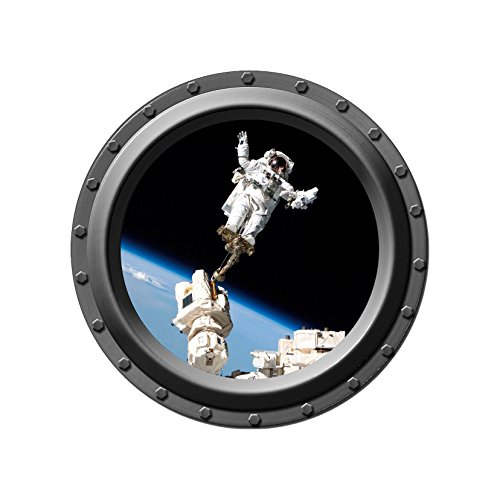 Standing on Top of the World Porthole Wall Decal - 24