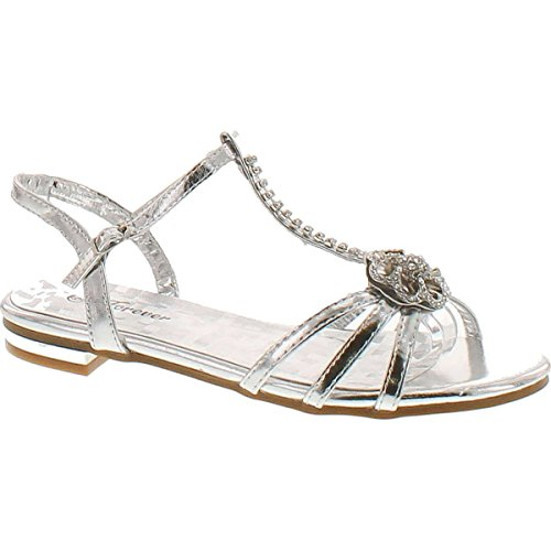 Forever Link Forever Nora-69 Womens Open Toe Flat Wedding...