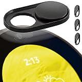 Amazon Echo Spot Webcam Cover - Camera Privacy Slide - Compatible With Laptops, Tablets & Smartphones - Olixar Anti Hack - Black - 3 Pack