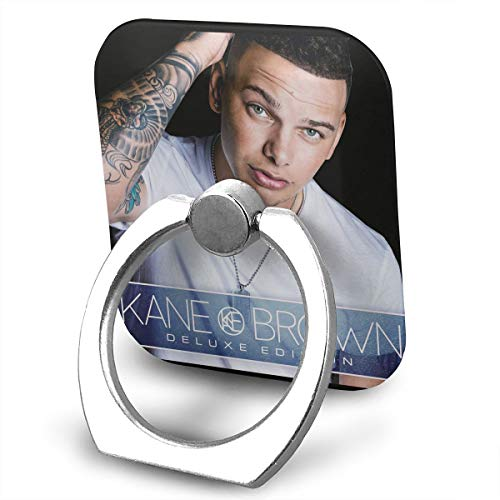 EdithL Kane Brown Cellstand Cell Phone Finger Ring Stand, Car Mount 360 Degree Rotation Universal Phone Ring Holder Kickstand for iPhone/iPad/Samsung