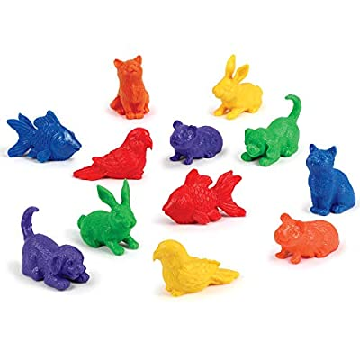 Learning Resources Domestic Pets Counters, Educational Counting and Sorting Toy, Set of 72: Toys & Games