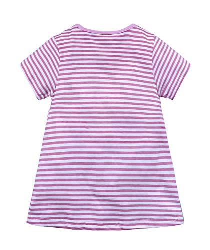 f6cc51a8c14b Fashspo Toddler Girls Cotton Dress Long Short Sleeves Casual Striped Shirt(2 -6T)