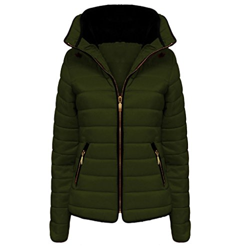 Winter Zara Inside Plain Girls H Zip Padded Hip Puffer Length Inspired Full Collar Coat High Faux Fur Ladies Long Bubble 8 Women Size Quality Quilted Sleeve amp;F khaki 14 12 Zipped High D Jacket Up 10 xYYqR54n