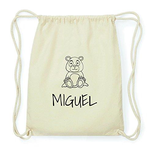 JOllipets MIGUEL Hipster Turnbeutel Tasche Rucksack aus Baumwolle Design: Bär