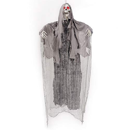 5.6 Ft. Animated Hanging Screaming Ghost Decoration, Halloween