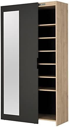 Mueble zapatero de 1 puerta corredera – Ardy – L 101 x l 38 x H 180 – Neuf: Amazon.es: Hogar