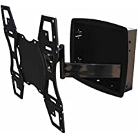 Recessed Flush In-Wall box Articulating Arm mount for LED TV Samsung, LG 32, 40 42 47 48 50 55