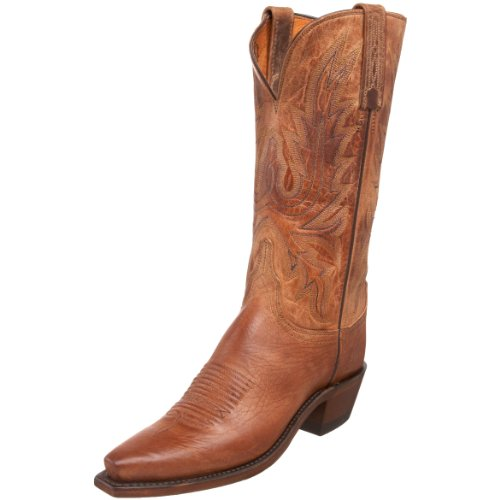 1883 by Lucchese Women's N4540 5/4 Western Boot,Tan Burnished,5 C(W)US Burnished Mad Dog Goat