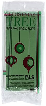 "Jumbo Christmas Tree Removal Bag and Skirt Green Xtra Large 144 x 90"" Heavy Duty"