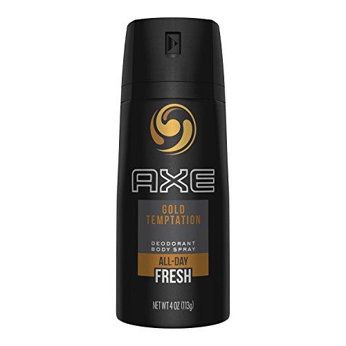 AXE Body Spray for Men, Gold Temptation, 4 oz