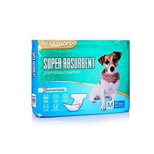 All-Absorb Disposable Dog Diapers, Medium