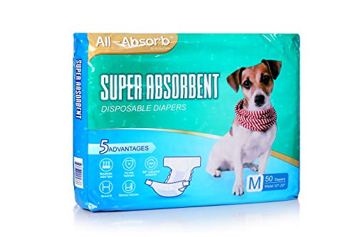 - All-Absorb Disposable Dog Diapers, Medium
