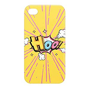 Loud Universe Apple iPhone 4/4s 3D Wrap Around HOO Print Cover - Yellow