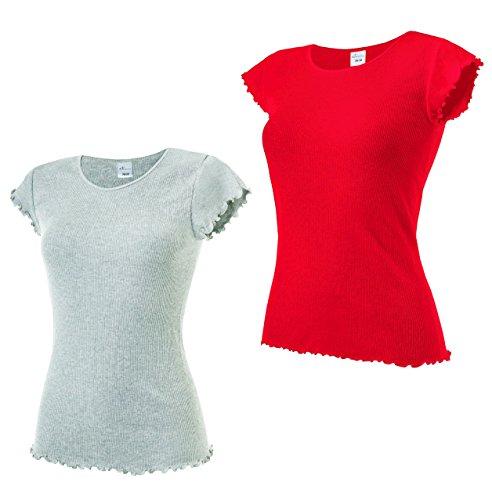 e.FEMME - Camiseta sin mangas - para mujer Rot, Graumelange