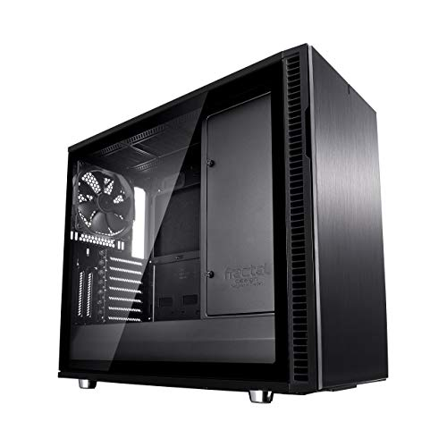 Fractal Design Define R6 USB-C – Mid Tower Computer Case – ATX – Optimized for High Airflow and Silent Computing with Moduvent Technology – Modular Interior – Water-Cooling Ready – Blackout Tg