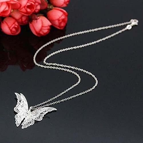 LiboboWomen Lovely Butterfly Pendant Chain Necklace Jewelry