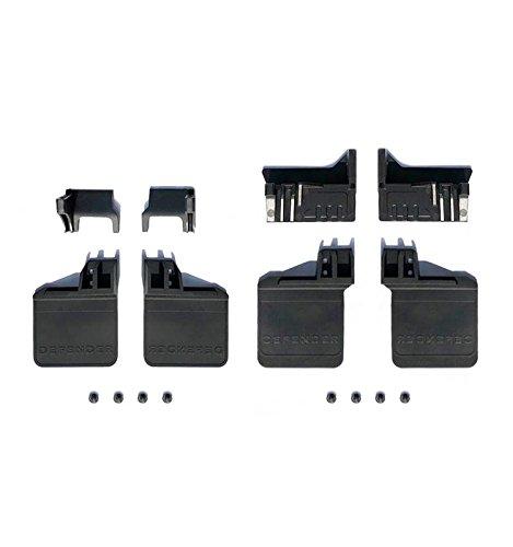 - Polyurethane Front / Rear Skid Plate Upgrade Kit For TRX-4 Trail Defender Crawler - 16Pc Set Black